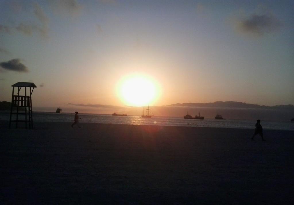 sunset mindelo
