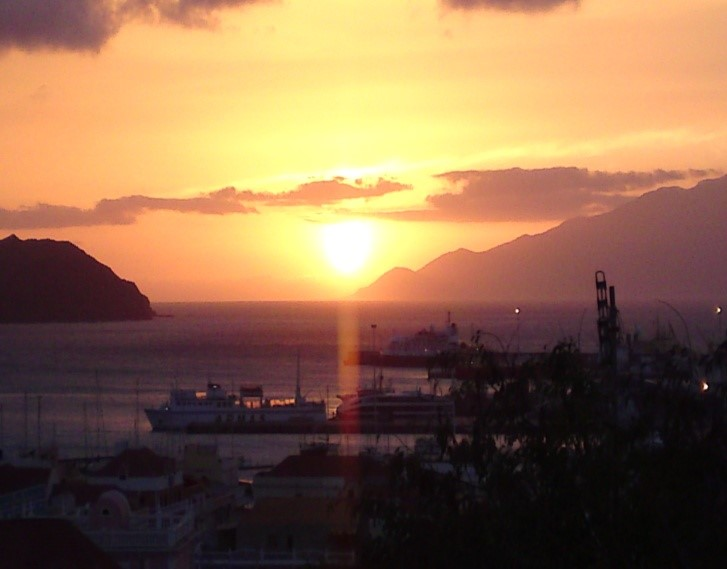 sunset in Mindelo