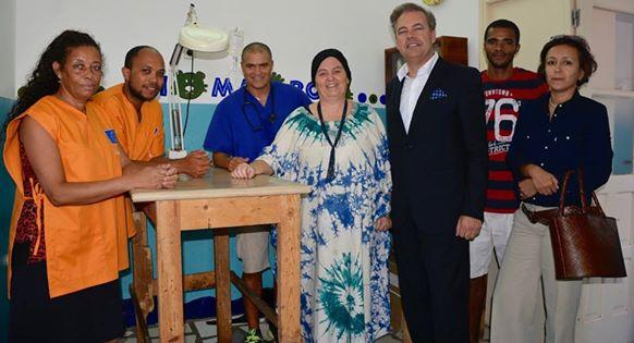 european delegation at simabo cape verde
