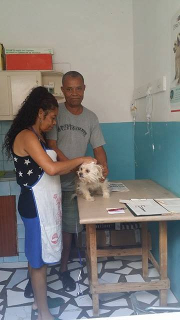 vet working at Simabo's clinic