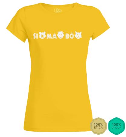 simabo t-shirt woman yellow
